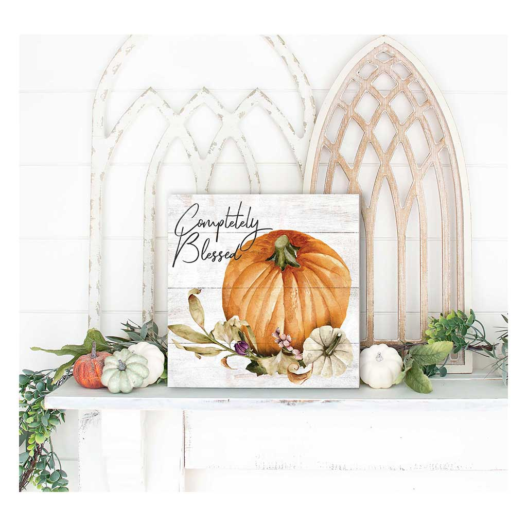10x10 Completely Blessed Pumpkin Floral Sign