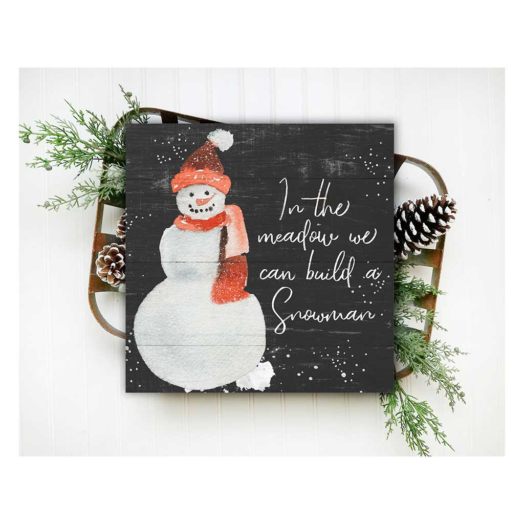 10x10 In the Meadow Build a Snowman Sign