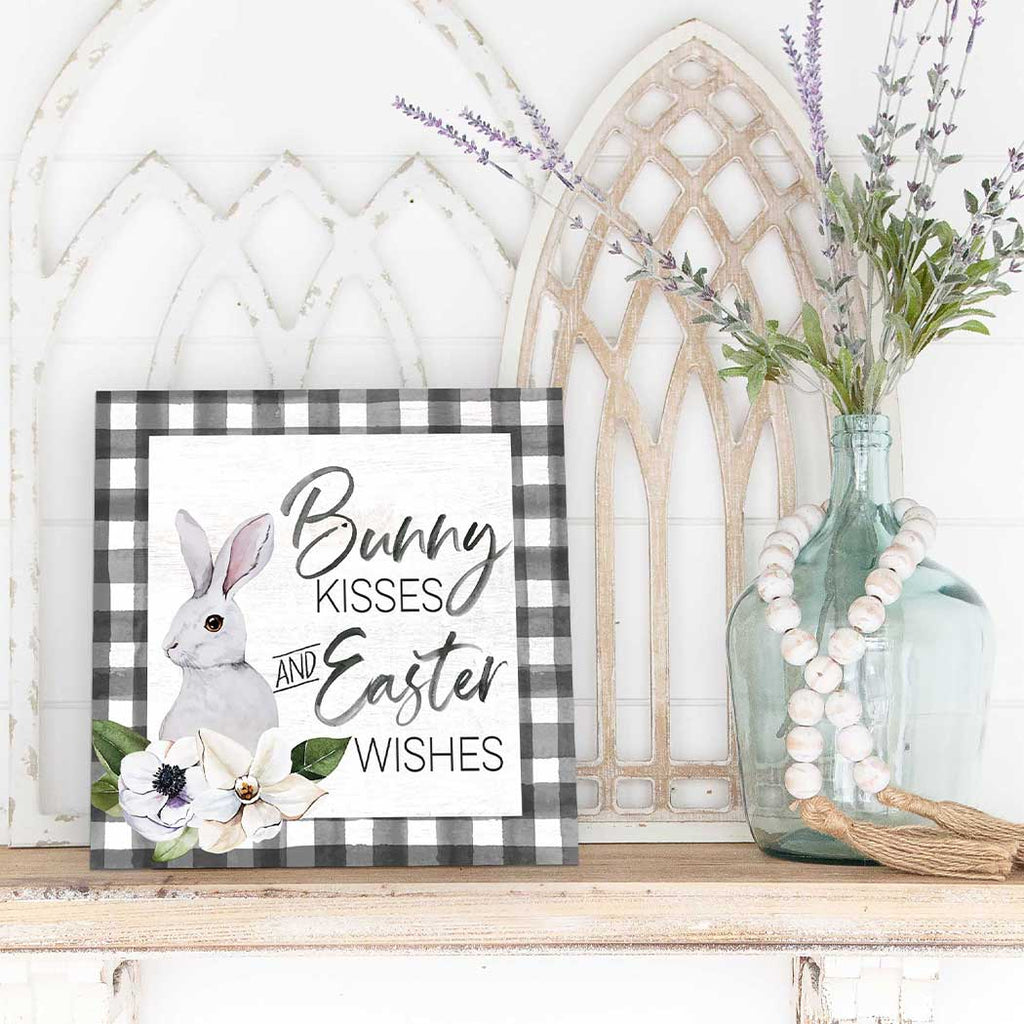 10x10 Bunny Kisses Easter Wishes Sign