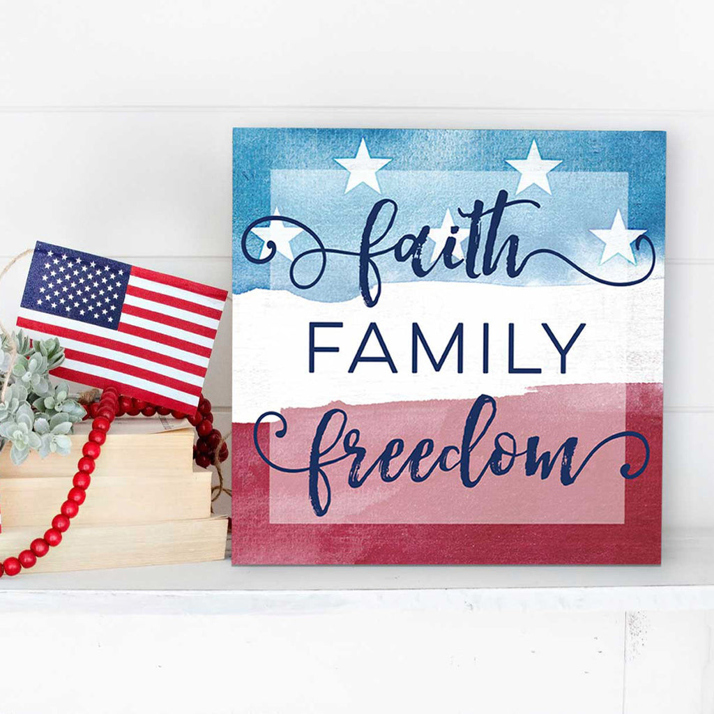 10x10 Faith Family Freedom Americana