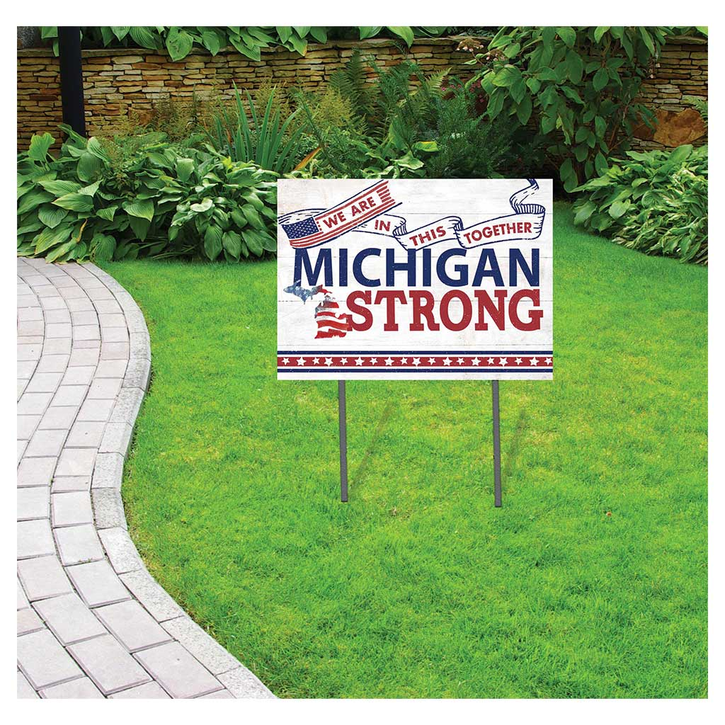 State Strong Lawn Sign Michigan