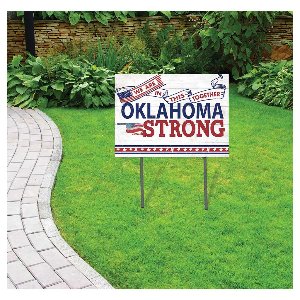 State Strong Lawn Sign Oklahoma