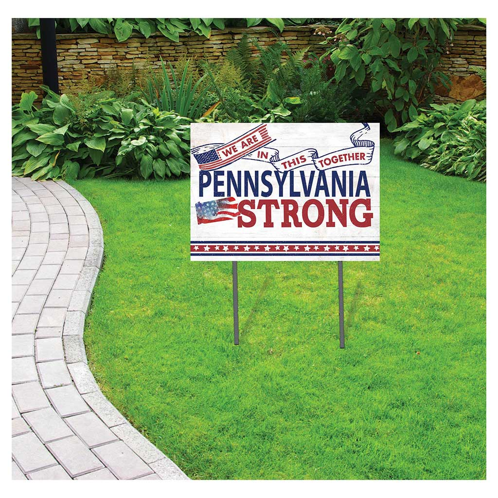 State Strong Lawn Sign Pennsylvania