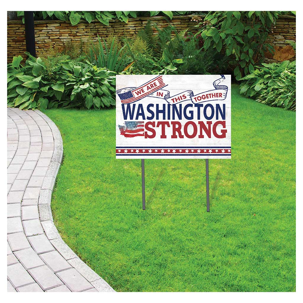 State Strong Lawn Sign Washington
