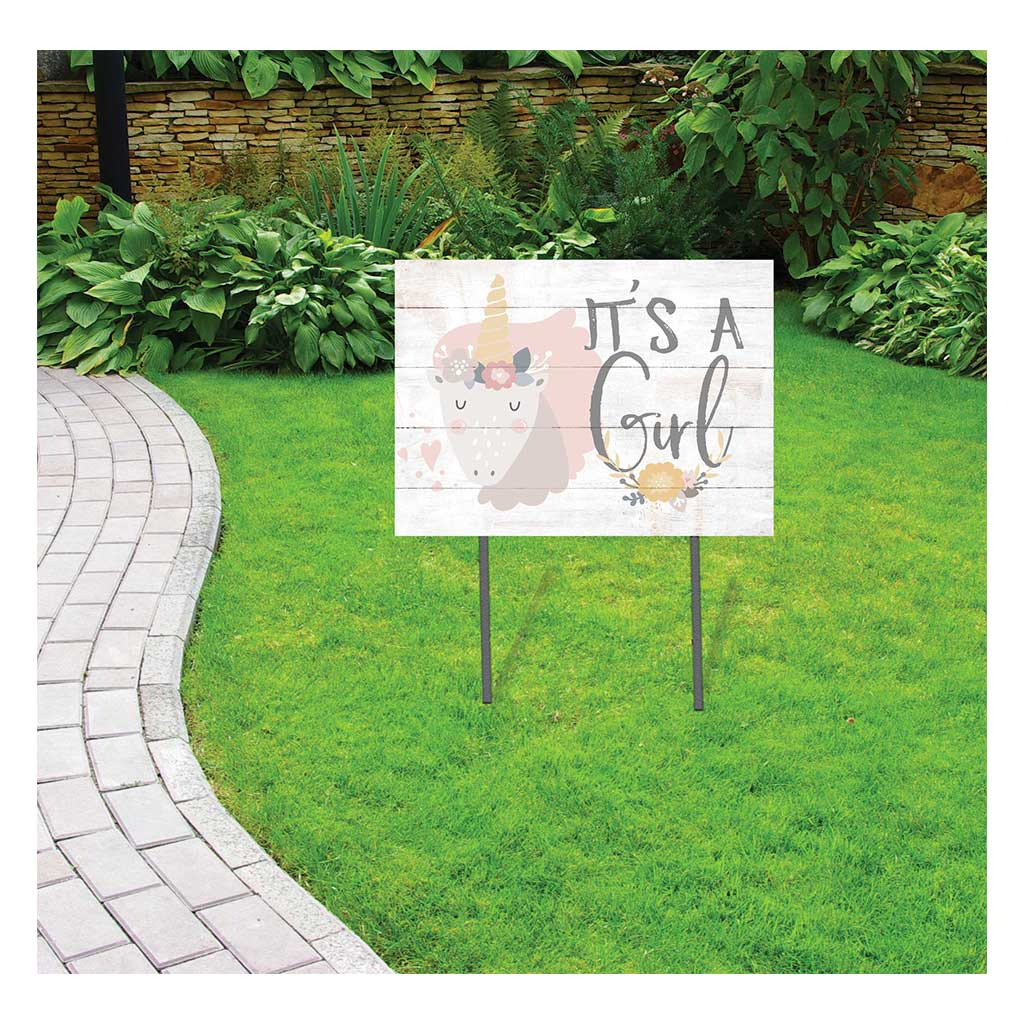 18x24 It's A Girl Unicorn Lawn Sign