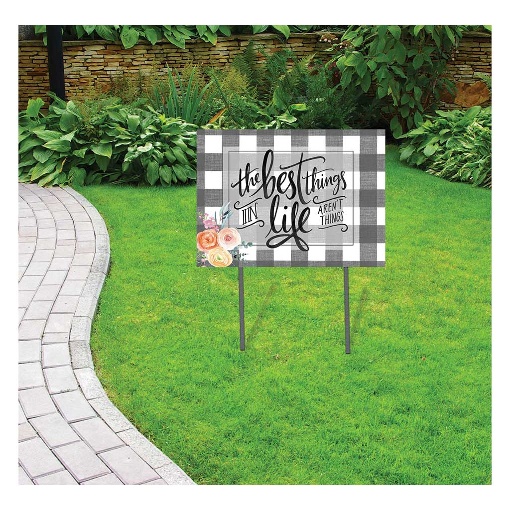 18x24 Buffalo Check Best Things in Life Lawn Sign