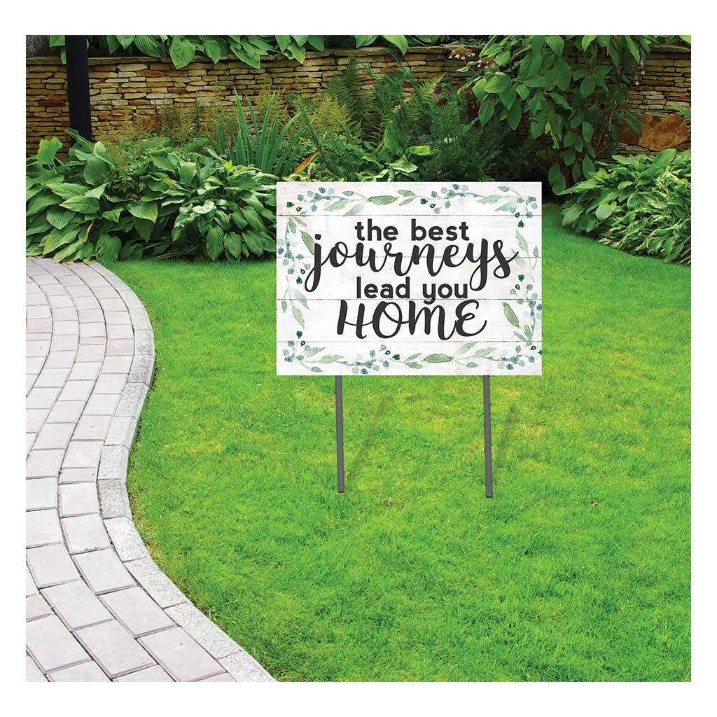 18x24 Best Journeys Lead Home Lawn Sign