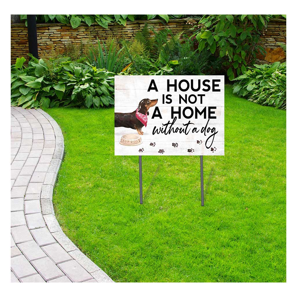 18x24 Black Dachshund Dog Lawn Sign