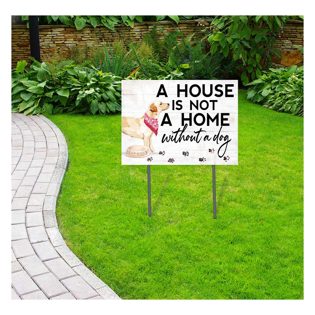 18x24 Yellow Labrador Dog Lawn Sign