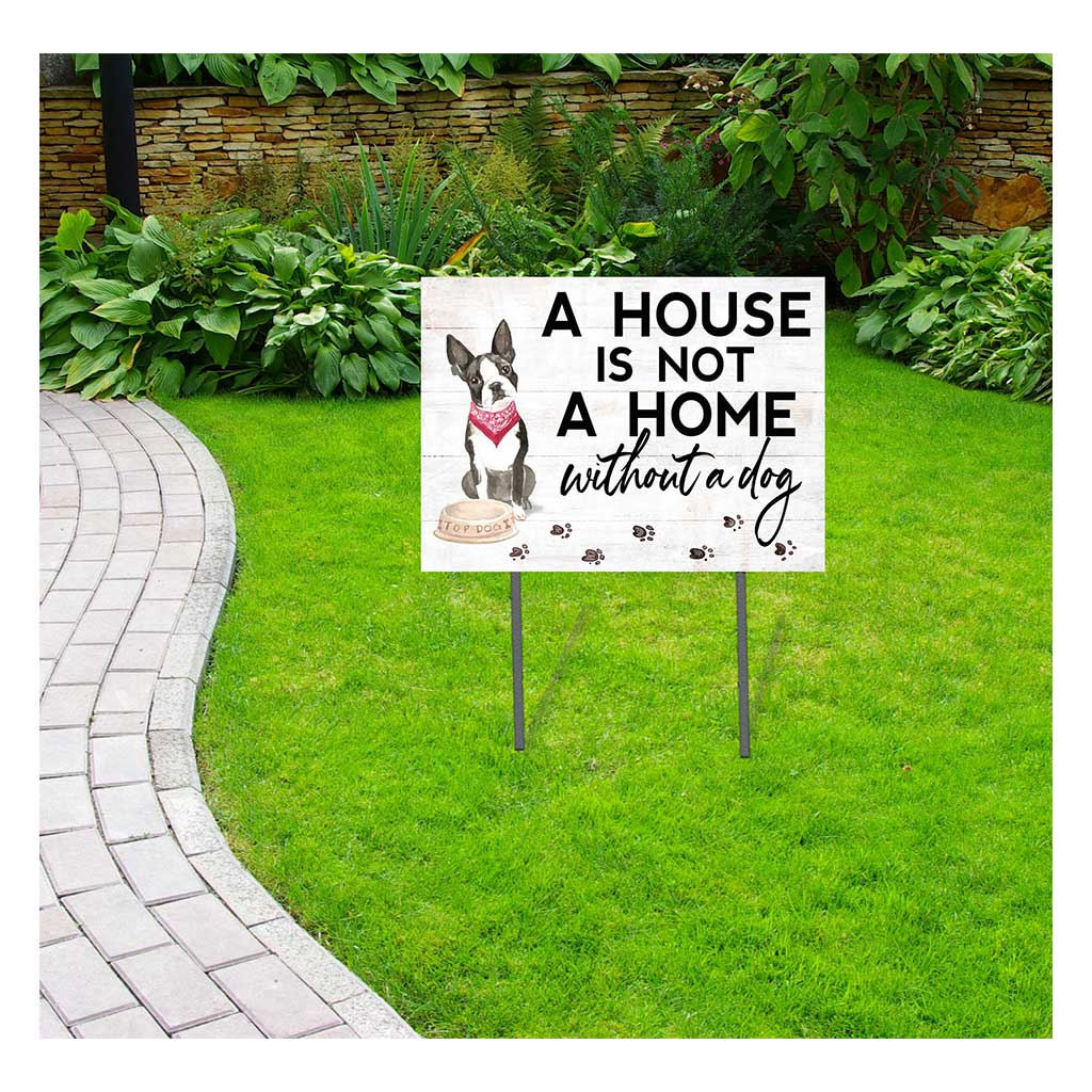 18x24 Boston Terrier Dog Lawn Sign