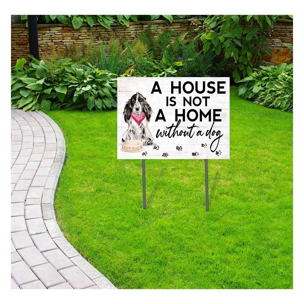 18x24 Gray Cocker Spaniel Dog Lawn Sign