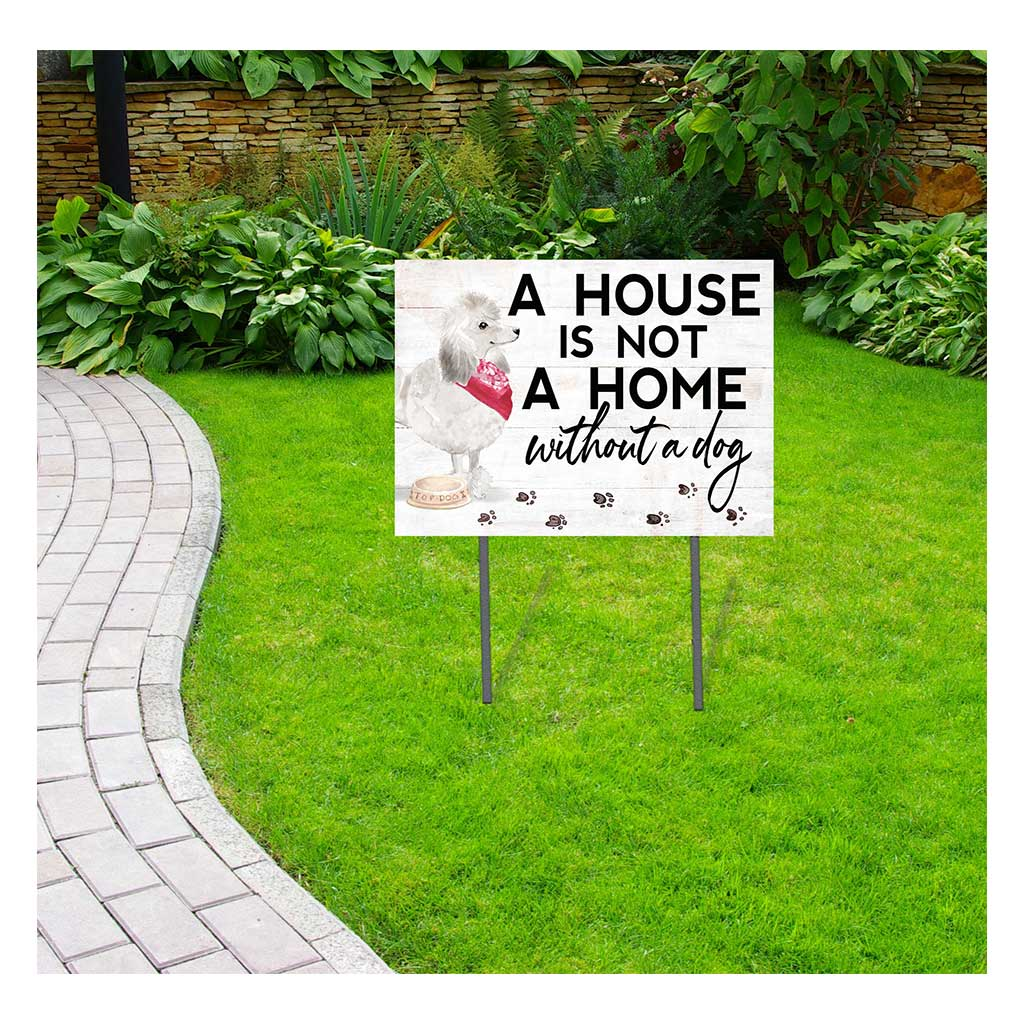 18x24 White Poodle Lawn Sign