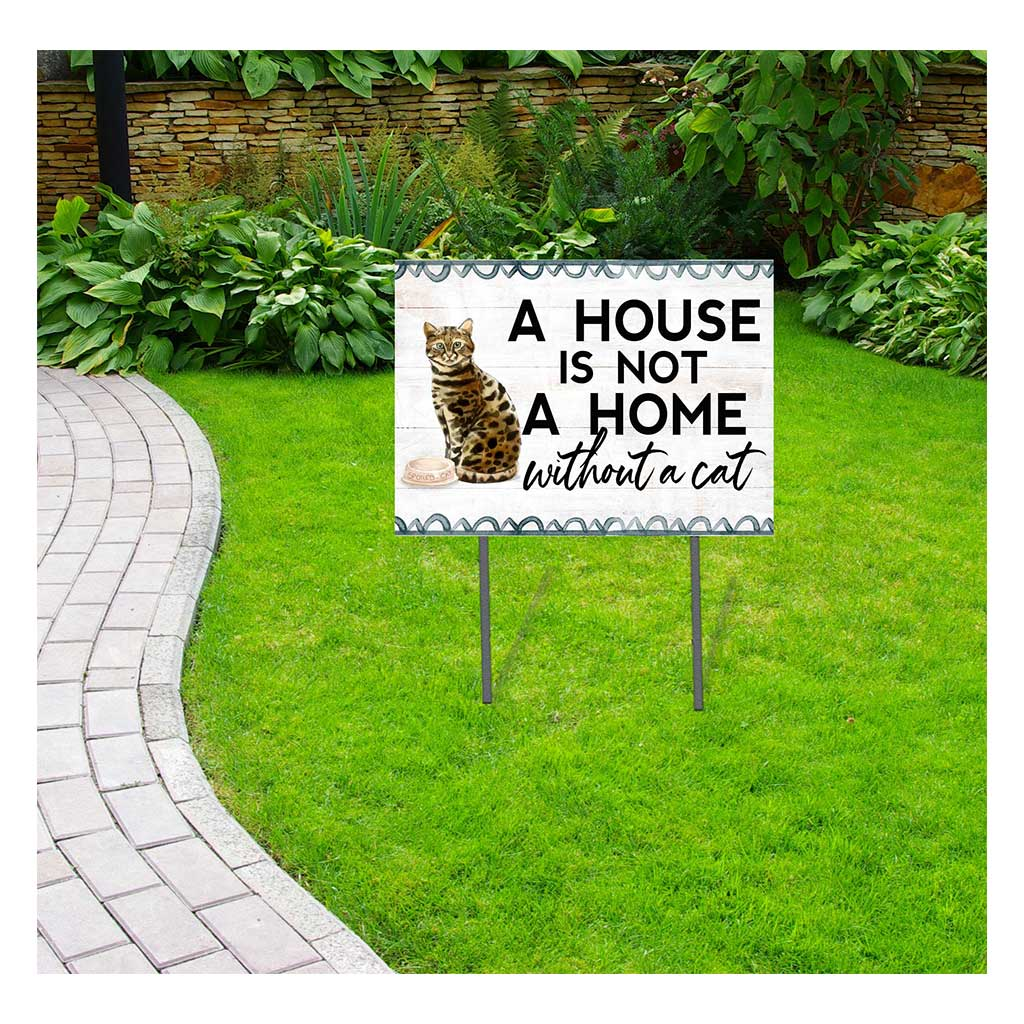 18x24 Bengal Cat Lawn Sign