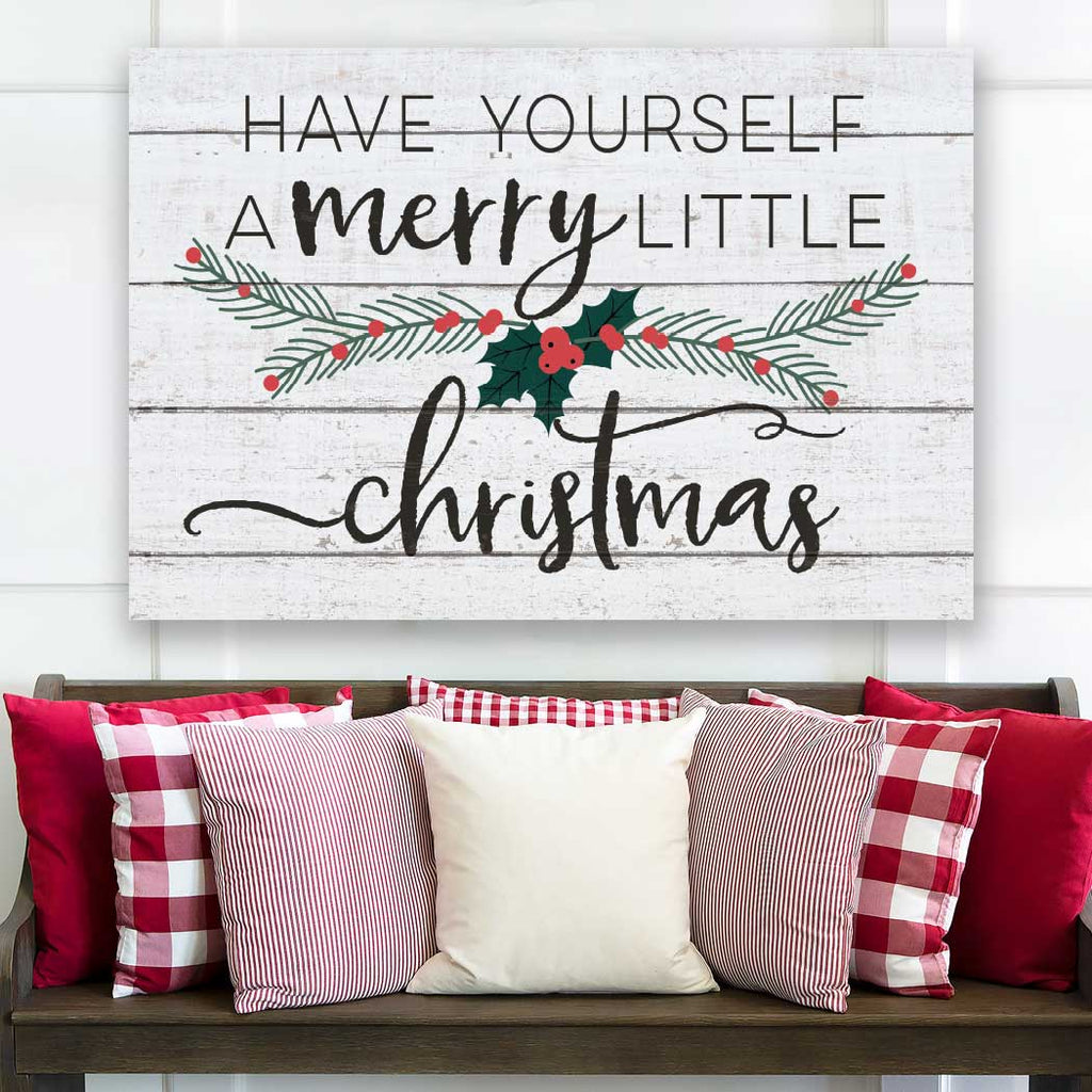 23x34 Have Yourself Merry Christmas Whitewash Sign