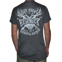 """Get Your Redneck On"" Grey T-Shirt"