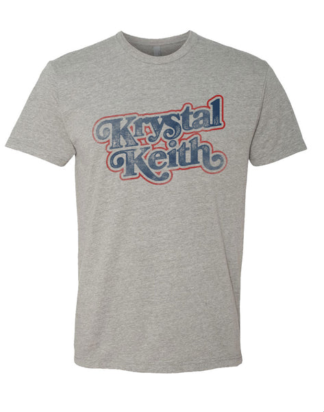 Krystal Keith Logo Light Grey Tee