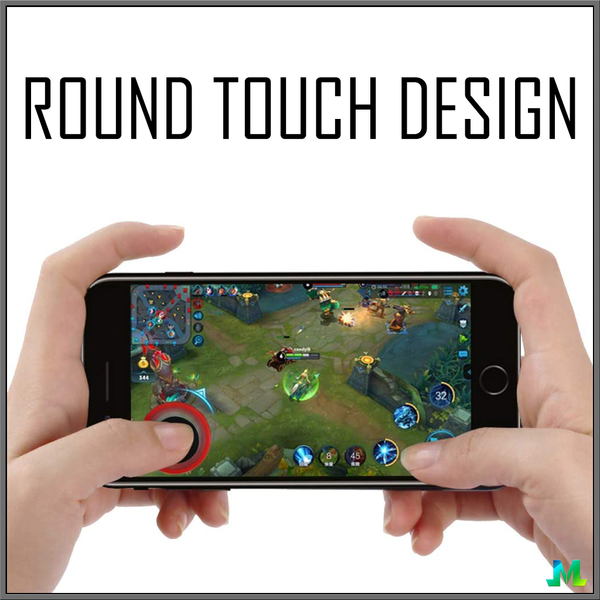 Round Touch Mobile Gaming Joystick Design