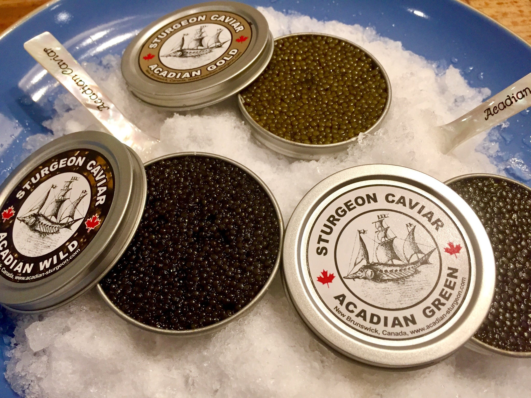 Trio of Acadian Caviar