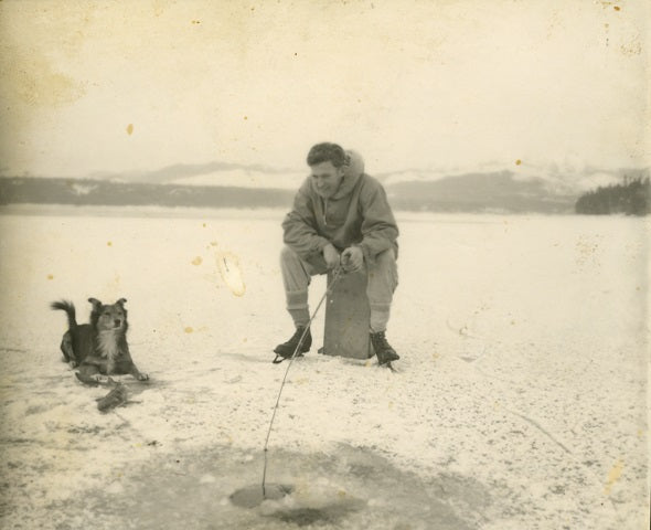 Ice Fishing on Hood Canal 1950