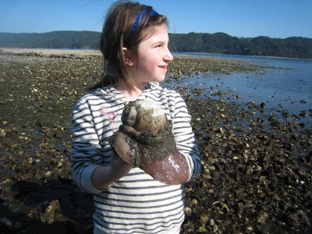 kid with moonsnail