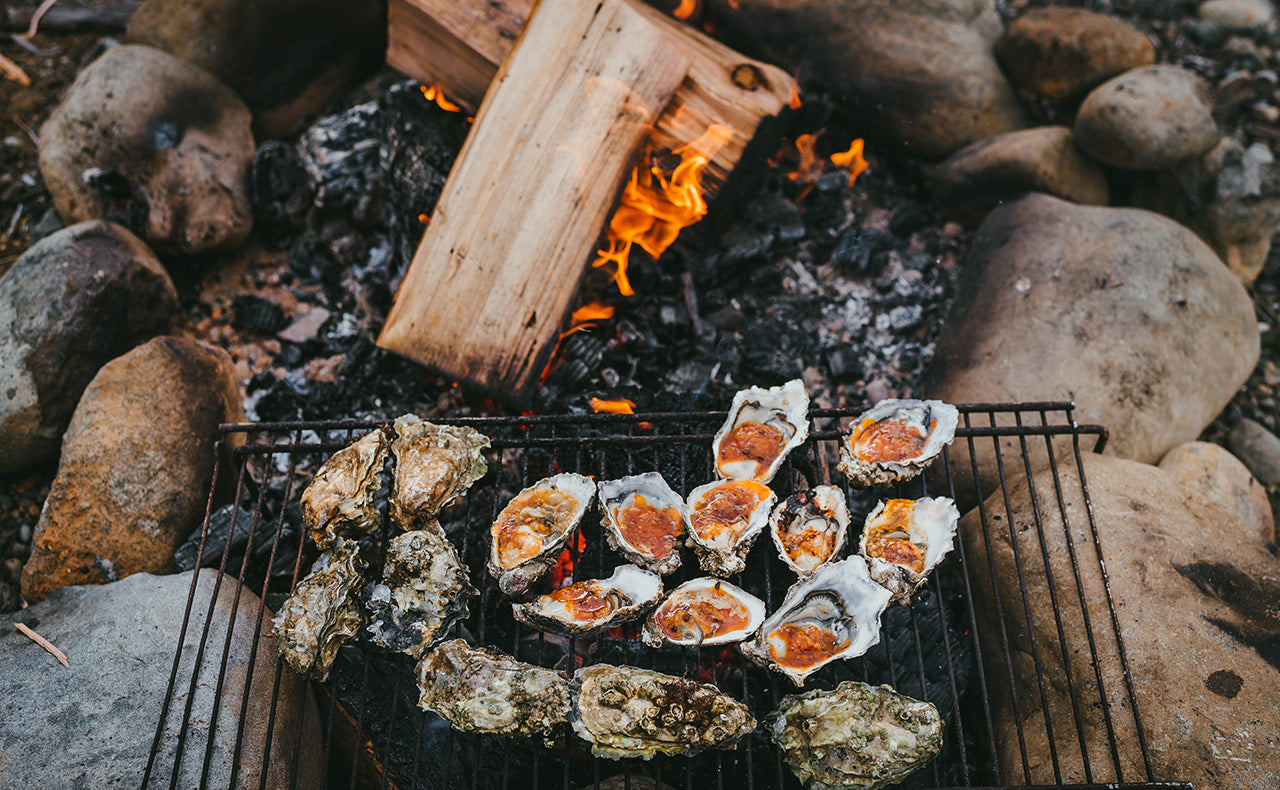Oysters on a fire by Jenn Repp