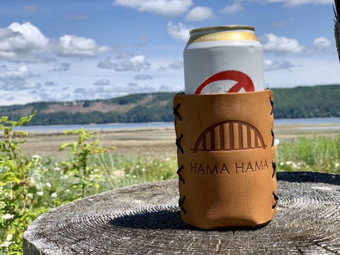 Hama Hama Leather Koozie