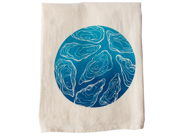 Oyster Tea Towels from Red Umbrella