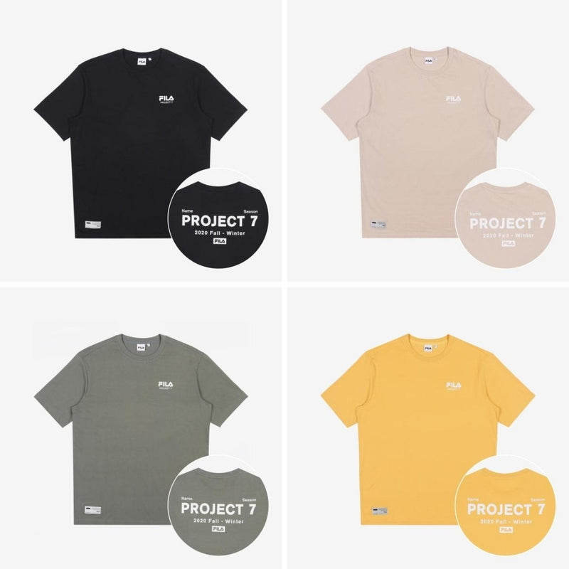 BTS X FILA PROJECT 7 CLOTHES : T-SHIRTS (OFFICIAL)