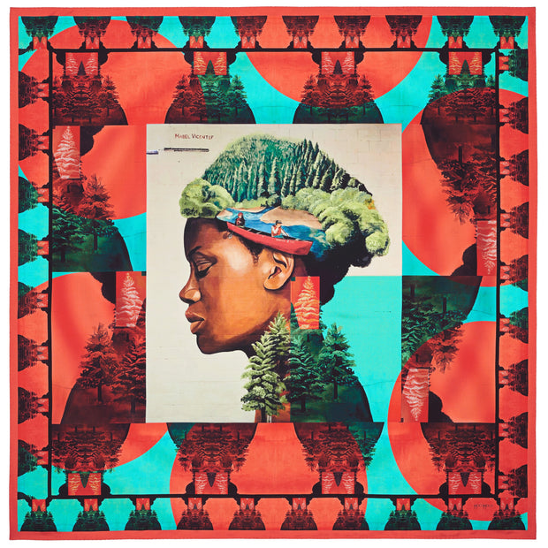 streetart-silk-scarf-buenos-aires-by-mocomoco-berlin-artist-mabel-vicentef-scarf-with-motif-women-with-river-and-forest-in-her-head-lying-blue-green-red-140x140cm