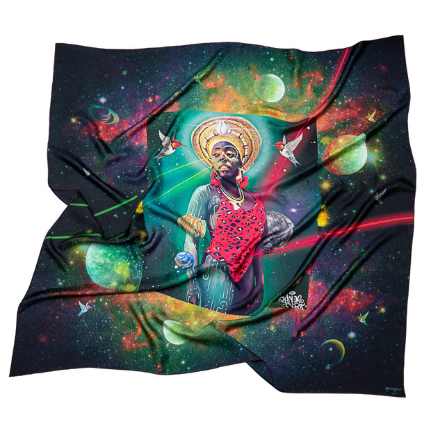 streetart-silk-scarf-rio-de-janeiro-by-mocomoco-berlin-artist-pandronoba-motif-collage-samba-dancer-sapretah-dancing-in-the-universe-140x140cm