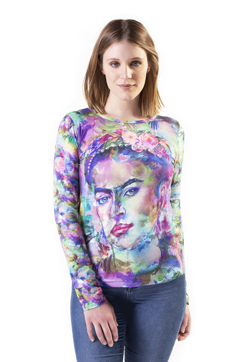 FRIDA ACUARELA - T-Shirt Women - ¡Ay Güey! USA