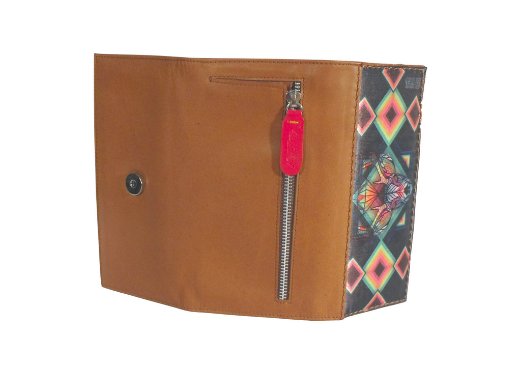 LEATHER WALLET D-ITZMIN (Tabaco) - Wallet W - ¡Ay Güey! USA