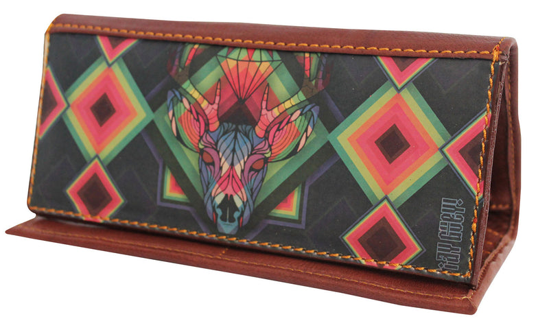 LEATHER WALLET D-ITZMIN (Miel) - Wallet W - ¡Ay Güey! USA