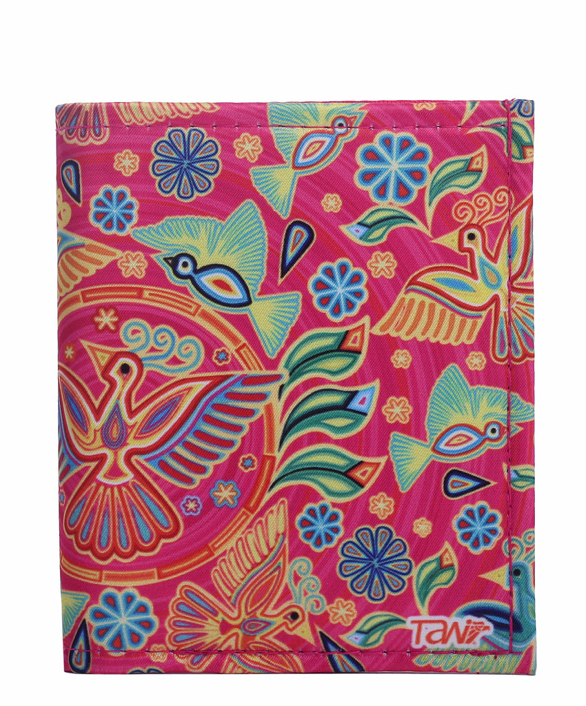 WALLET CARD HOLDER TEXTIL HUICHOL (Pink) - Wallet W - ¡Ay Güey! USA