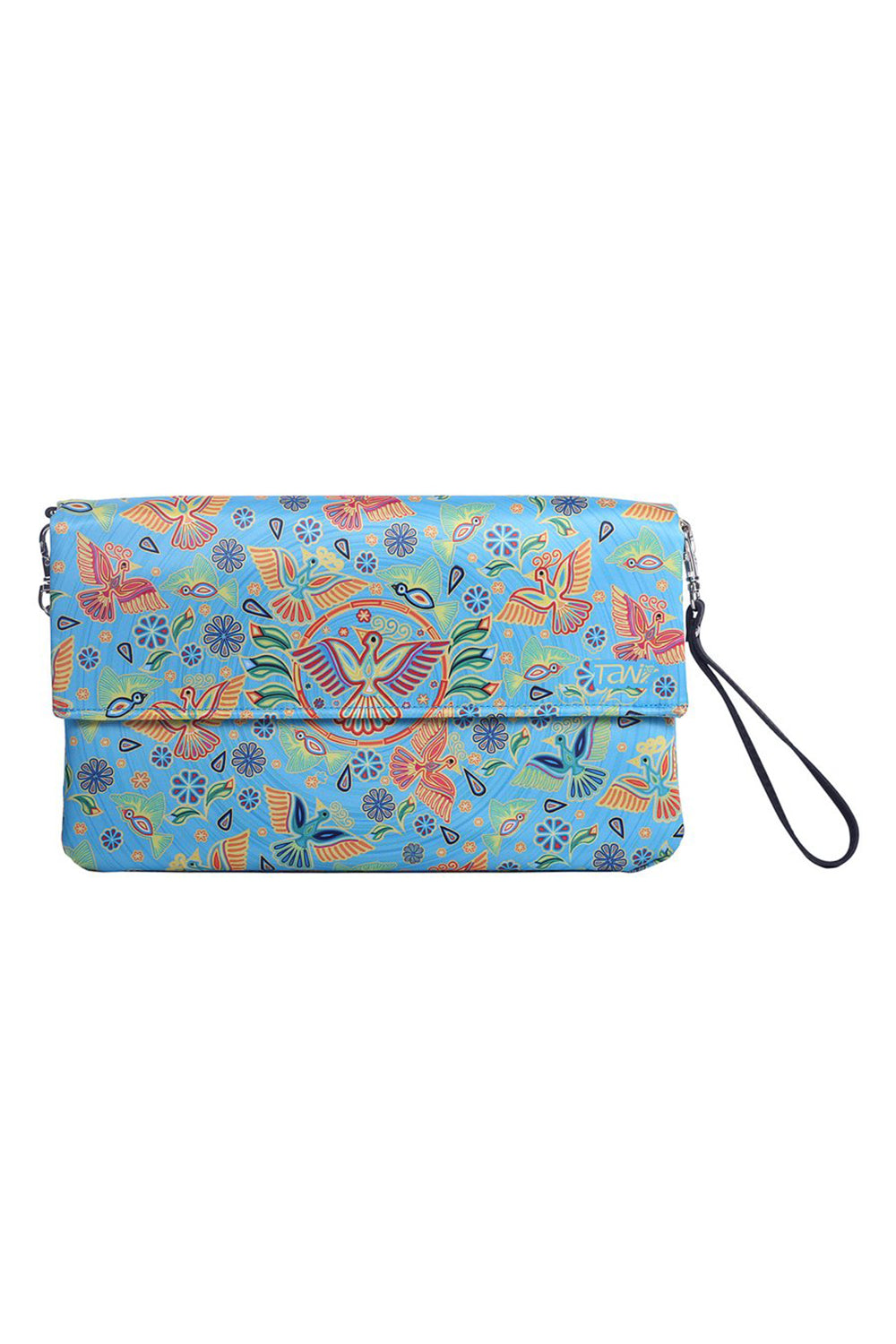 BAG TULUM TEXTIL HUICHOL (Blue) - to Women - ¡Ay Güey! USA