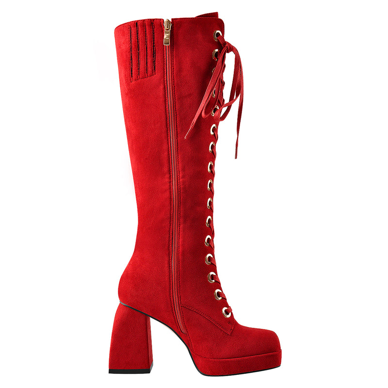 Red Knee Boots