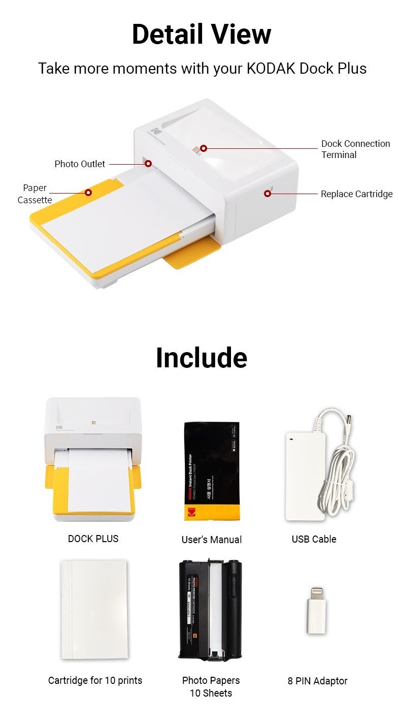 Detailed view on how to replace 4x6 inch instant Kodak Photo Printer cartridge