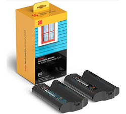 KODAK Dock Plus & Dock Photo Printer Cartridge PHC-80 – Cartridge Refill & Photo Paper- 80 Pack