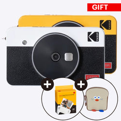 "[Gift Package] Kodak Mini Shot 2 Retro 2.1x3.4"" Portable Wireless Instant Camera & Photo Printer, Compatible with iOS & Android, Real Photo - 60sheets Bundle - Kodak Photo Printer"