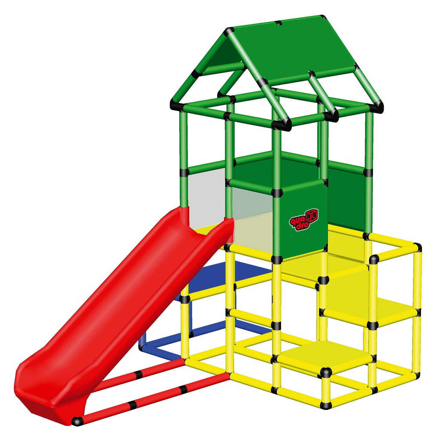 Large Play Tower with Integrated Slide