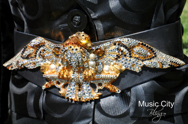 Drop Dead Gorgeous Crystal Eagle Swarovski Belt