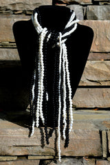 All Tied Up Tassel Pearl Necklace