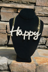 'Happy' Necklace