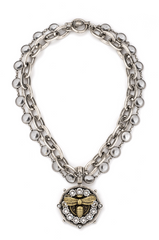 Lourdes Chain With Swarovski Bee Medallion