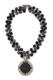 Triple Strand Nuit Mixed Metals With Black Medallion