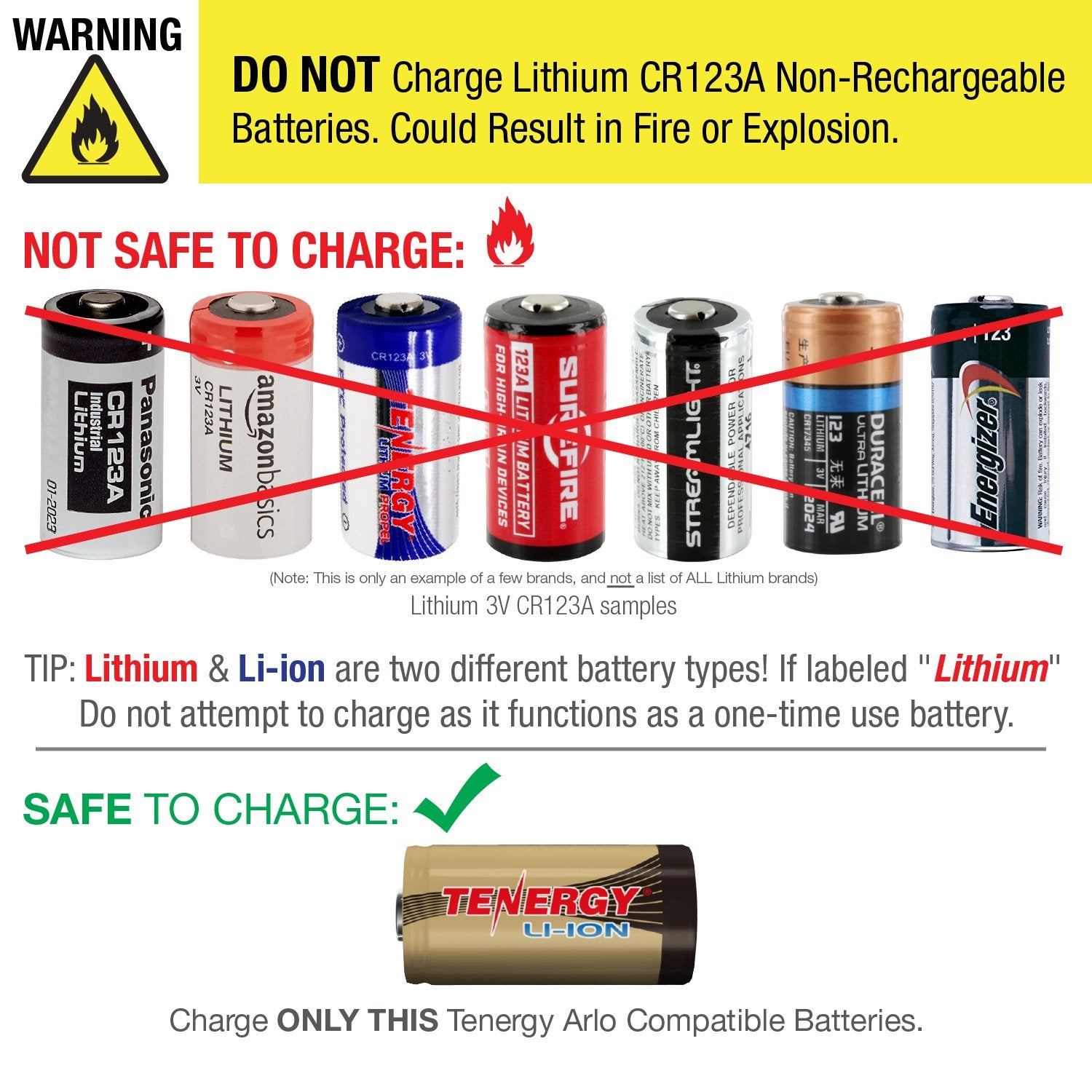 Tenergy - Arlo certified rechargeable batteries and charger