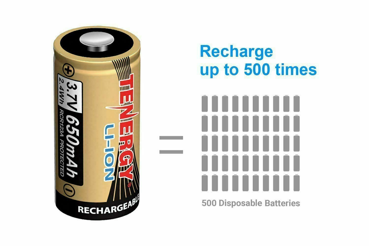 Tenergy - Arlo certified rechargeable batteries x 12