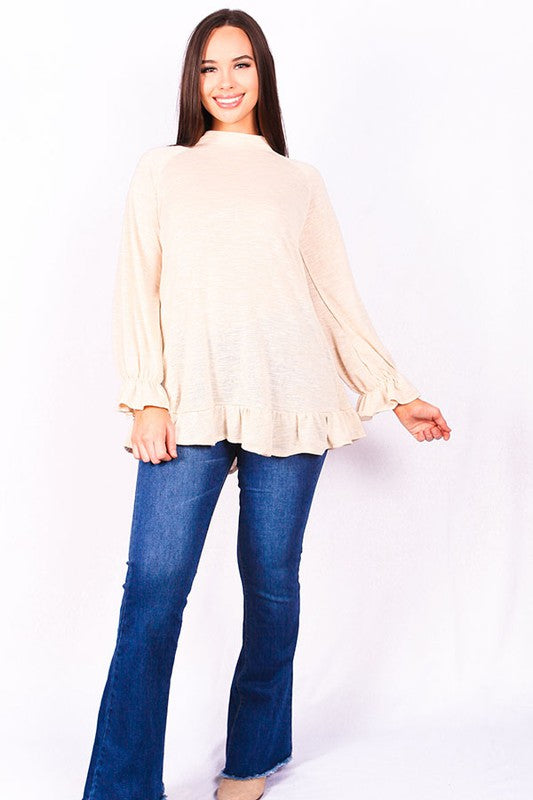 Tunic Top with Bell Sleeve