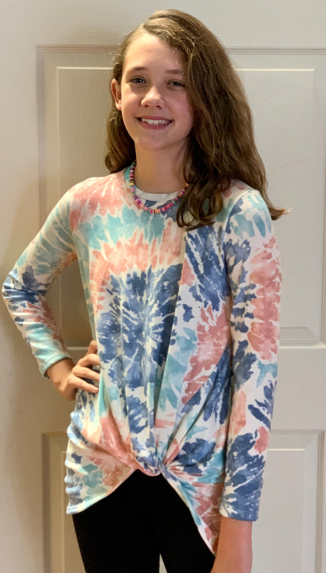 Girl's Tie Dye Long Sleep Top