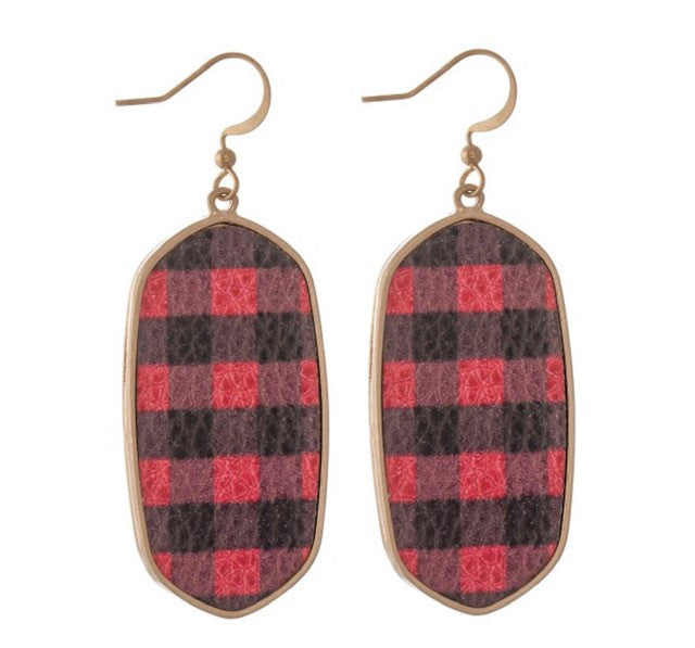Buffalo Plaid Drop Earrings